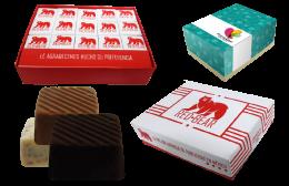 Cajas de Papel con Chocolates Personalizados